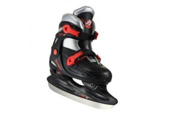 (X-Small/6-9 Youth, Black) - American Athletic Shoe Cougar Adjustable Hockey Skates