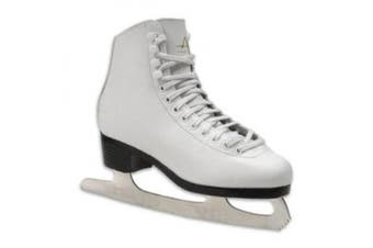 (13, White) - American Athletic Shoe Girl's Tricot Lined Ice Skates, White, 13