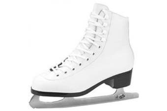 (2, White) - American Athletic Shoe Girl's Tricot Lined Ice Skates, White, 2