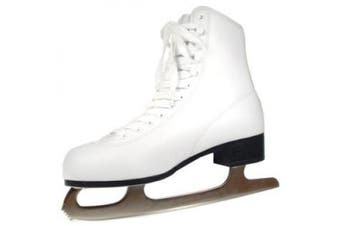 (7, White) - American Athletic Shoe Women's Tricot Lined Ice Skates, White, 7