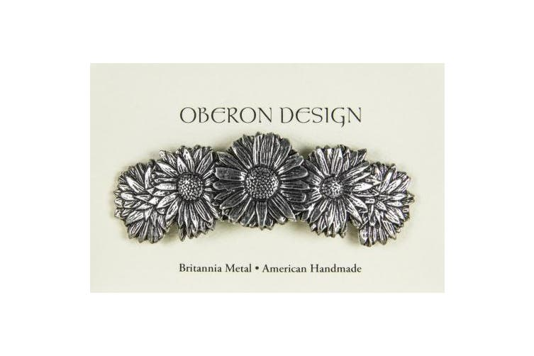Hair Clip   Barrette   Daisies   Handmade in the USA by Oberon Design