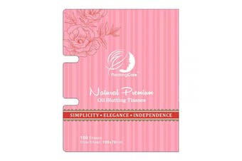 (Rosy - 1 Pack) - PleasingCare Oil Blotting Paper Sheets, 100 Counts, Natural Rose Facial Oil Absorbing Face Blotting Sheets - Take Only 1 Piece Each Time Design - No Waste and Easy to Carry in Pocket (Rosy - 1 Pack)