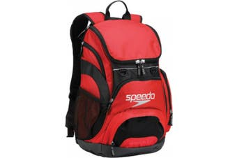(Red/Black) - Speedo Large Teamster Backpack, 35-Litre
