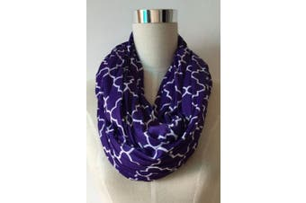 (royal purple/white quatrefoil) - Two-Sided Infinity Nursing Scarf & Cover for Breastfeeding Babies & Mothers. Softest, Most Stylish Way to Nurse Your Baby in Total Privacy. Premium Quality Nursing Cover Fits Plus-Sized Moms,Too