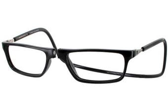 (+ 3.00, Black) - CliC Executive Reading Glasses Magnetic Front Connect; Black (+3.00)