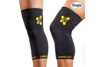 (1 x X-Large, Single) - CopperJoint Copper Knee Brace, #1 Compression Fit Support - GUARANTEED Recovery Sleeve - Wear Anywhere - Single