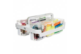 Deflecto Caddy Organiser, Three Compartments, White (29003)