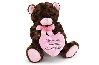 I Love you More Than Chocolate Valentines Day Heart Teddy Bear by Burton & Burton