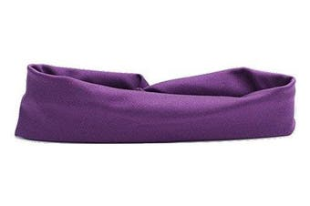 (Aubergine) - Girls Ballet Dance Sports Lycra Headband By Katz Dancewear All Colours