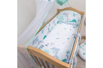 (Pattern 13) - Baby Comfort Nursery Cot 4-Sided All-Round Bumper for 120x60 cm Cot (13)