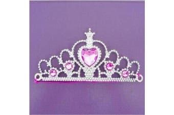 (Princess Tiaras) - 6 Girls Silver Princess Tiaras - Party bag fillers toys