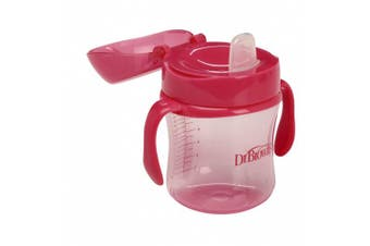 (180ml, Pink) - Dr. Brown's Soft-Spout Transition Cup, 180ml (6m+), Pink, Single