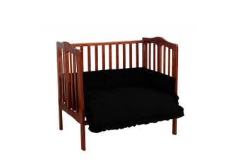 (1, Black) - Baby Doll Solid Port-a-Crib Set, Black