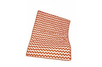 (Orange) - Baby Doll Bedding Chevron Crib Comforter, Orange