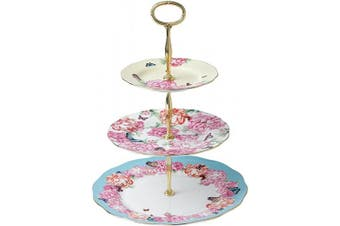 (3 Tier, Multi) - Royal Albert Miranda Kerr Friendship 40001833 3 Tier Cake Stand Joy, Grattitude & Devotion (16cm,20cm,27cm), Multi, Fine Bone China