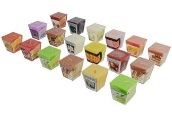 All2shop Scented Votive Candles Set of 18 Assorted Pure Scents for Relaxation & Aromatherapy
