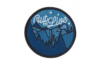 (Out to Live) - Out to Live Glow in the Dark Embroidered Sew or Iron-on Patch
