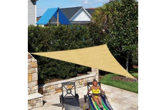 (3.4m Triangle, Almond) - Coolaroo Ready to Hang Shade Sail Triangle 3.4m Almond