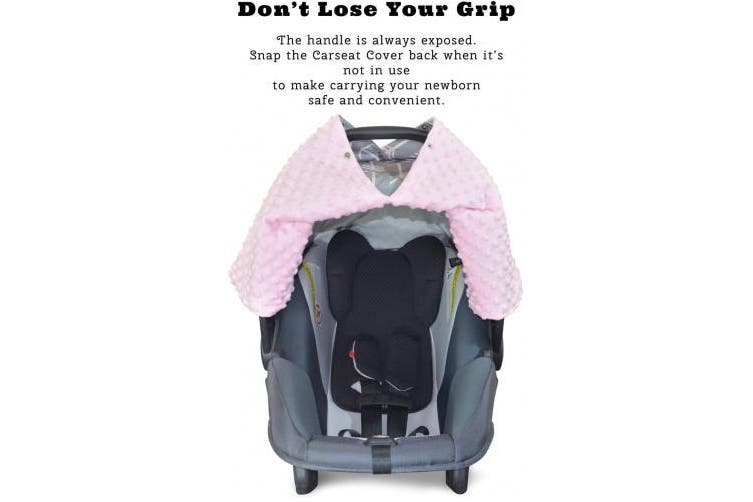 (Large, Arrows/ Soft Pink Minky) - Premium Carseat Canopy Cover with Peekaboo Opening- Large Arrow Print with Soft Pink Dot Minky | Best for Infant Car Seat, Boy or Girl | All Weather | Universal Fit | Baby Shower Gift | Newborn Decor
