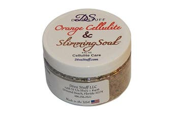 Cellulite and Slimming Salt Bath Soak With Orange Polyphenols,120ml Jar, Diva Stuff