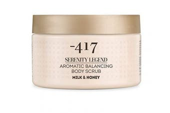 -417 Aromatic Body Scrub Milk & Honey – Precious Mineral Complex – Dead Sea Minerals- Aromatic Vegan Body Exfoliator for All Skin Types