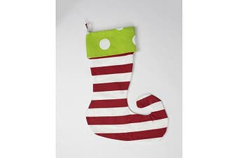 Caught Ya Lookin S71-206-204 Elf Stocking, Green Oxygen With Red Stripe