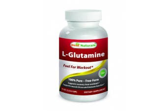 L-Glutamine Powder 120ml by Best Naturals - 100% Pure - Free Form - Fuel for Work out*