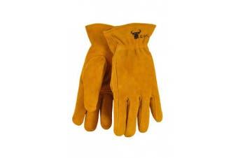 (Medium (4-6 Years Old)) - G & F 5013M JustForKids Kids Genuine Leather Work Gloves, Kids Garden Gloves, 4-6 Years Old