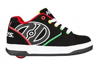 (UK 3 / EU 35) - Heelys Propel 2 Shoes - Black / Reggae