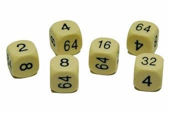 16mm spare Cream Urea doubling dice for backgammon x 2