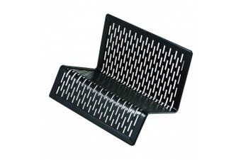 (Black) - Artistic Urban Collection Punched Metal Business Card Holder