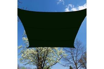 (Waterproof 12x12, Waterproof, Green) - BlueDot Trading Square Waterproof Shade Sail - 3.7m by 3.7m (Green)