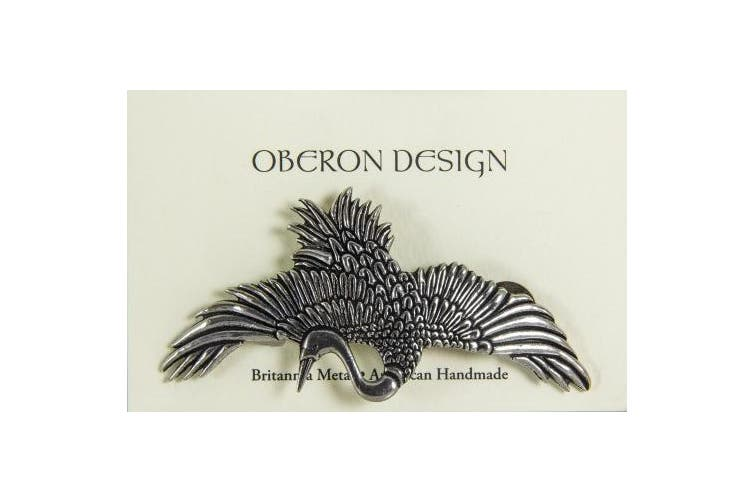 Hair Clip | Barrette | Crane | Handmade in the USA by Oberon Design