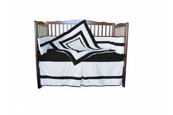 (Black) - Baby Doll Bedding Modern Hotel Style Crib Bedding Set, Black