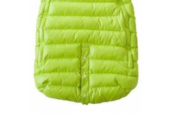 (Small, Neon Lime/Beige) - 7AM Enfant Doudoune One piece Infant Snowsuit Bunting, Neon Lime/Beige, Small