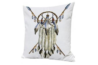 (WITHOUT FILLER, Dream Catcher) - Indian Skull Cushion Cover ChezMax Cotton Linen Throw Pillow Case Sham Square Pillowcase For Lounge Saloon Decorations Decor Decorative
