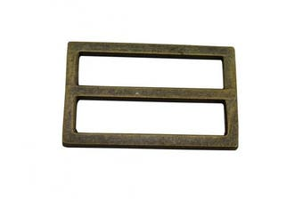 Ailisi Metal Bronze Rectangle Buckle with Fixed Bar 3.8cm X 2cm Inside Dimensions Loop Ring Belt Strap Keeper Pack of 10