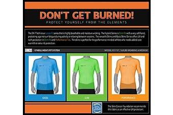 (Large, White) - O'Neill Wetsuits Men's UV Sun Protection Basic Skins Short Sleeve Rash Guard Crew Shirt