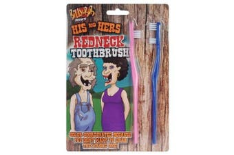 His and Hers Redneck Toothbrush Set Funny Gag Gift