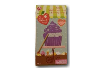 """(Cup Cakes, Pink) - Studio 0.4cm All The Sweet Things"""" 16 Etch Valentines with 16 Etching Tools (Cup Cakes)"""