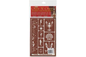 (Under The Sea) - Armour Products Over N Over Glass Etching Stencil, 13cm by 20cm , Under The Sea