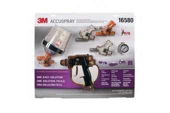 (3M 16580 Accuspray Spray Gun System) - 3M Accuspray Spray System with Original PPS, 16580, Standard, 650mls, Use for Cars, Furniture, Cabinets Gun, 1 Paint Cup, 1 Collar, 5 Disposable Lids and Liners, 4 Nozzles