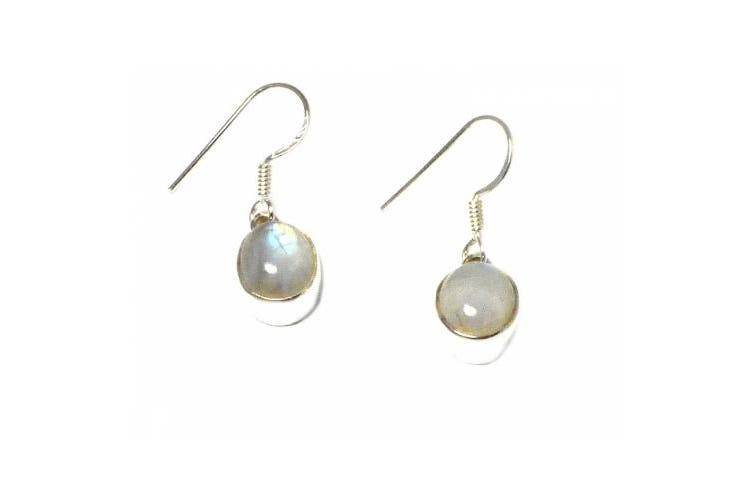 MOONSTONE Sterling Silver Earrings 925 - (MSE0303161)