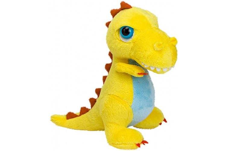 (T-Rex, S, Yellow) - Suki Gifts International T-Rex Dinoz Soft Dinosaur Plush Toy (Small, Yellow)