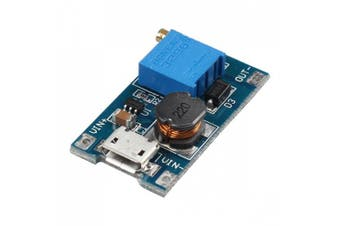 2A Booster Board DC-DC Step Up Power Module Input 2-24V To 5V 9V 12V 28V With Micro USB For Arduino