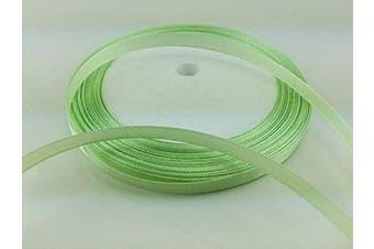 (grass green) - Solid Colour Satin Ribbon 0.6cm ,25yds (grass green)