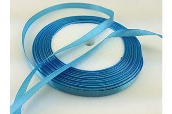 (sky blue) - Solid Colour Satin Ribbon 0.6cm ,25yds (sky blue)