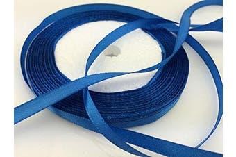 (blue) - Solid Colour Satin Ribbon 0.6cm ,25yds (blue)