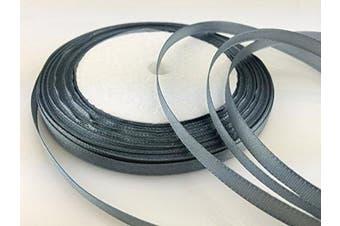 (gray) - Solid Colour Satin Ribbon 0.6cm ,25yds (grey)