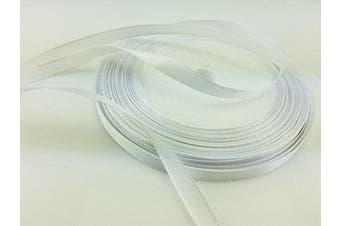 (white) - Solid Colour Satin Ribbon 0.6cm ,25yds (white)